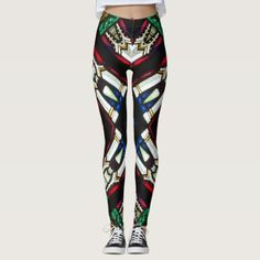 Stained Glass Style Leggings - personalize cyo diy design unique