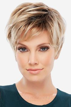 Large Cap Allure Classic by Jon Renau Wigs - My list of the most beautiful women's hair styles Short Pixie Haircuts, Short Hairstyles For Women, Prom Hairstyles, Hairstyle Ideas, Teenage Hairstyles, Hairstyles For Over 50, Braided Hairstyles, Messy Pixie Haircut, Short Spiky Hairstyles