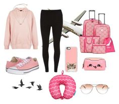 """""""Cute airplane outfit✈️"""" by avrilsuar on Polyvore featuring Dorothy Perkins, New Look, Converse, Casetify, Kendra Scott, Anya Hindmarch, New Directions, Jayson Home, Flight 001 and Dita"""