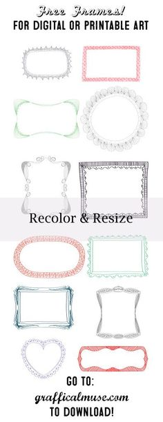 Free clipart - Frames - from grafficalmuse.com