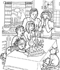 shabbat coloring page