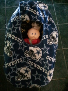 Fleece Dallas Cowboys Print Baby Carrier Cozy Cover Up for Infant Car Seat