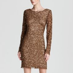 Gorgeous sequin dress!!! Bronze color! 🎉Perfect for NYE!!! Gorgeous never worn sequin bronze dress! Size 2🎉 Adrianna Papell Dresses