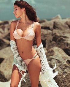 "Beach babe @allexandramichelle in our ""Maui Bikini"" --- www.WantMyLook.com"