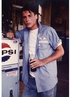 Rob Lowe in his 1st movie 'The Outsiders'