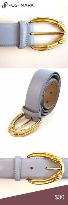 "Vintage LIZ CLAIBORNE Lilac Belt Vintage LIZ CLAIBORNE Lilac Purple Belt with Large Oval Gold Buckle SMALL  Brand: LIZ CLAIBORNE   Genuine Leather   Size Small  Measurements: Belt measures 26"" to first hole and 29"" to last hole. Belt measures 1.5"" wide. Buckle measures 2 3/4"" X 2 1/4""   Excellent vintage condition! Liz Claiborne Accessories Belts"