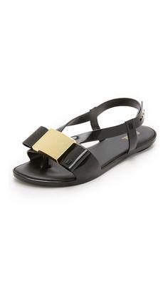 Melissa Flat Lovely Sandals - Black