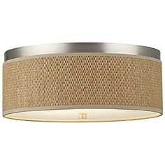 Buy the Forecast Lighting Satin Nickel Direct. Shop for the Forecast Lighting Satin Nickel Natural Grasscloth Flush-Mounted Ceiling Light with Satin Nickel Frame and save. Transitional Fireplaces, Transitional Lighting, Transitional Living Rooms, Transitional House, Transitional Bathroom, Semi Flush Ceiling Lights, Flush Mount Lighting, Flush Mount Ceiling, Bedroom Lighting