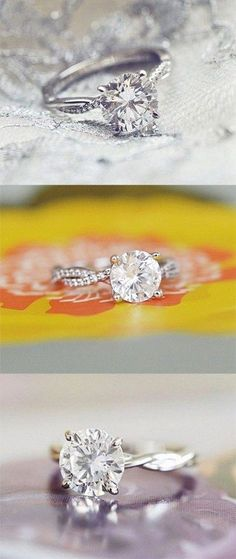 nature-inspired diamond twist engagement rings / http://www.deerpearlflowers.com/twisted-engagement-rings-wedding-rings/