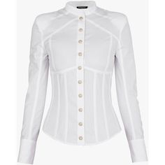 Underwired cotton-poplin shirt | Women's shirts | Balmain