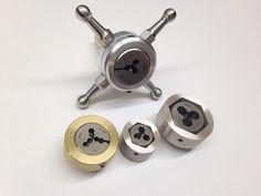 Hex die adaptors for watchmakers lathe tailstock die holder Cnc Lathe, Lathe Tools, Making Tools, Diy Tools, Metal Shop, Metal Projects, Tool Set, Blacksmithing, Metal Working