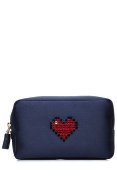 ANYA HINDMARCH Heart Makeup Pouch. #anyahindmarch #