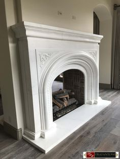 Good No Cost Stone Fireplace remodel Tips Master Sitting Carved Stone Fireplace Surround in White Marble Stone Fireplace Mantles, Fireplace Mantel Surrounds, Natural Stone Fireplaces, Fireplace Hearth, Fireplace Design, Fireplace Ideas, Fireplace Makeovers, Concrete Fireplace, Modern Fireplace