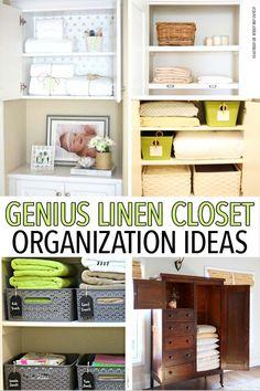 12 Genius Linen Closet Organization Ideas