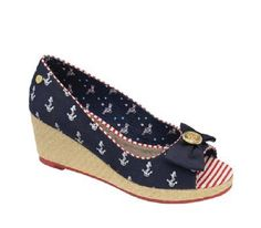 NEW BABYCHAM WOMEN'S KEISHA ANCHOR PEEPTOE WEDGE SHOES NAVY (R31A) in Clothes, Shoes & Accessories, Women's Shoes, Heels | eBay