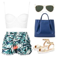 """""""Untitled #247"""" by zayngirl27 ❤ liked on Polyvore featuring Scoop, Topshop, Elorie, Alexandra de Curtis and Ray-Ban"""