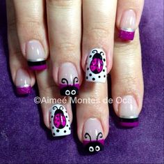 Lady Bugs by NailsliciousSpa - Nail Art Gallery nailartgallery.nailsmag.com by Nails Magazine www.nailsmag.com #nailart