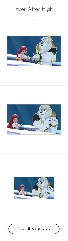"""""""Ever After High"""" by lgdalaten ❤ liked on Polyvore featuring ever after high, cartoon, eah, disney, dolls, phrase, quotes, saying, text and characters"""