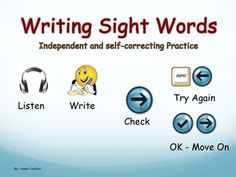 """This interactive Powerpoint will allow your students to independently practice writing Kindergarten and Grade 1 high frequency words, starting with the most basic ones such as """"the"""" or """"and"""" and by the end moving on to words such as """"does"""" and """"couldn't""""."""
