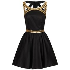 Chi Chi London Gold sequinned party dress found on Polyvore