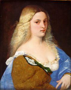 Tiziano - Violante (1515). Renacimiento. Óleo sobre lienzo de 64.5 × 50.8 cm. Museo de Historia del Arte (Viena), Austria