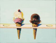 Wayne Thiebaud, Single and Double Decker, 1998