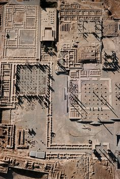 Aerial view of the ruins at Persepolis. capital of the Achaemenid Empire (ca. 550–330 BC). Persepolis is situated 70 km northeast of city of Shiraz in the Fars Province of modern Iran. The earliest remains of Persepolis date from around 515 BCE.