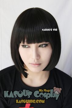 [Kasou Wig] Spirited Away Haku/ Alice Madness Returns Red Queen short black bob cosplay wig