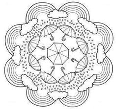 Mandala coloring pages are great for kids! With such a variety of themes and pictures there are sure to be mandalas your kids will want to personalize and design. Mandala Coloring Pages, Coloring Book Pages, Printable Coloring Pages, Coloring Sheets, Coloring Worksheets, Coloring Pages For Kids, Free Coloring, Zentangles, Embroidery Patterns