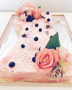 Another shot of baby Q's birthday cake. Happy birthday Quinny!! #scandicakes #numberonecake #firstbirthdaycake #perthcakes #cakesperth