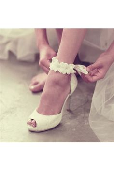 shoespie.com Offers High Quality Shoespie Ankle Appliqued Peep Toe Bridal Shoes ,Priced At Only US$126.39