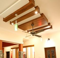 Wooden Bar False Ceiling Design to support ambient lighting yet contemporary ceiling design. Wooden Ceiling Design, Drawing Room Ceiling Design, Simple False Ceiling Design, Gypsum Ceiling Design, Interior Ceiling Design, House Ceiling Design, Ceiling Design Living Room, Wooden Ceilings, False Ceiling Ideas