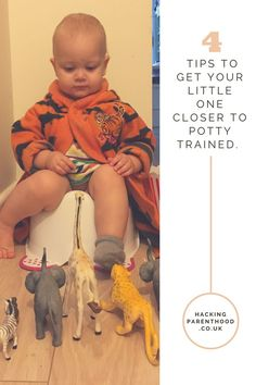 4 tips to get your little one closer to potty trained -Hacking Parenthood - Hacking Parenthood Gentle Parenting, Potty Training, Closer, You Got This, To My Daughter, Dinosaur Stuffed Animal, Hacks, How To Get, Tips