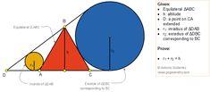 Plane Geometry, Geometry Problems, Maths Solutions, Preschool Activities, Theory, Triangle, High School, Ipad, Sketch