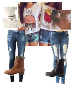 """""""Friends"""" by fashionmaster101 ❤ liked on Polyvore featuring AG Adriano Goldschmied and Charlotte Russe"""