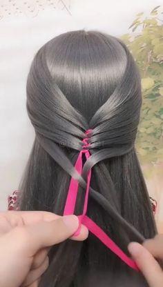 Cute Hairstyles For Medium Hair, Medium Hair Styles, Braided Hairstyles, Hairstyle For Women, Front Hair Styles, Medium Long Hair, Hair Videos, Hair Highlights, Balayage Hair