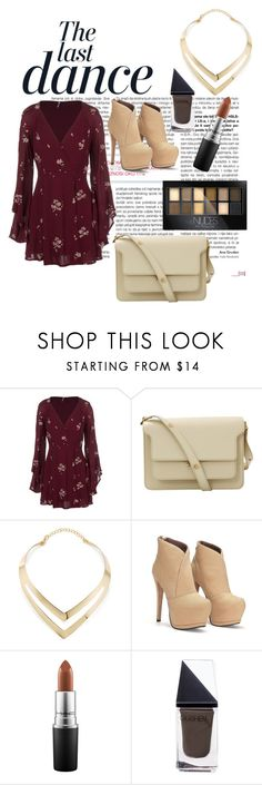 """""""Night out"""" by bailey-kratschman ❤ liked on Polyvore featuring Anja, Free People, Marni, Fortuni, MAC Cosmetics, GUiSHEM and Maybelline"""