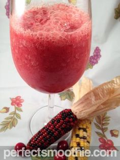 Cranberry Smoothie Recipe - What says festive like a cranberry smoothie? We used fresh cranberries in this recipe, but you could also try it with the canned variety. Fresh cranberries are lower in calories and have more of the antioxidant power retained, but they may not be easily found all year round.
