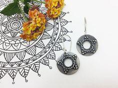 Silver Mandala Earrings. Mandala Earrings. Boho por PuntoPausa