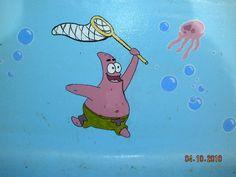 small spongebob pool mural by ~cheshirepinky on deviantART