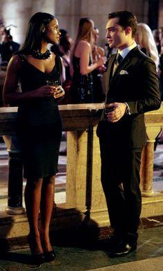 Tika Sumpter As Raina Thorpe And Ed Westwick As Chuck Bass In Gossip Girl, 2011