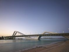 Sheikh Zayed Bridge by Zaha Hadid in Abu Dhabi. Zaha Hadid Architecture, Study Architecture, Interior Architecture, Zaha Hadid Design, Architectural Association, Bridge Design, Urban City, Urban Planning, Urban Landscape