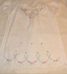 Vintage embroidered baby dress; love it!