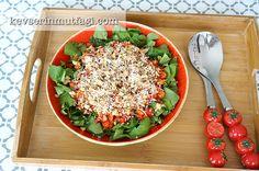 Közlenmiş Biberli Roka Salatası (Videolu Tarif)
