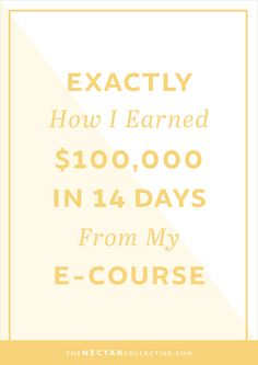 Exactly How I Earned $100,000 in 14 Days From the Launch of My E-Course - SOO happy I've joined the Blog Hive! Can't wait for it to start!