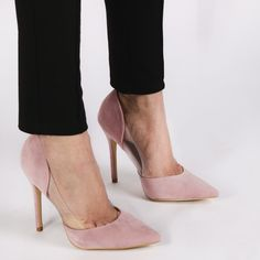 Keely High Heels in Khaki Faux Suede