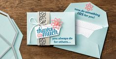 Stampin' Up!  Rachel Woollard: Gift Card Envelope & Trims Thinlits dies, Flourish Thinlits dies, BYOP  http://www.stampinup.net/esuite/home/rachelwoollard/