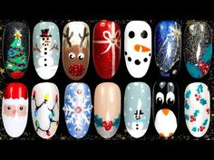 Christmas Nail Art Ideas Christmas Nail Art Ideas – Magazine Feminina<br> Christmas is certainly a special time and being with nails made is a delight! After all, there are several meetings with family and friends, usually more formal meetings such as Chistmas Nails, Diy Christmas Nail Art, Christmas Tree Nails, Xmas Nail Art, Xmas Nails, Holiday Nails, Christmas Lights, Winter Christmas, Simple Christmas Nails