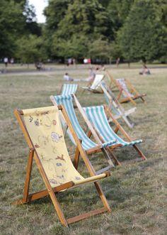 Deckchairs in Green Park