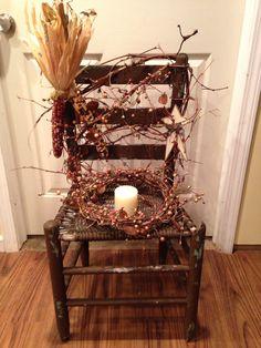 Rustic autumn chair